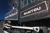 Manitou Springs  Manitou and Pikes Peak Railway Train  Colorado  USA