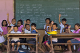Education  Students Having a Class in a Village School  Bohol Island  Philippines