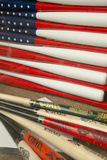 Baseball Bats Made into a Us Flag  Cooperstown  New York  USA
