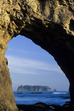 Arch in Sea Stack  Rialto Beach  Olympic National Park  Washington  USA