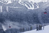 Skiing Gondola  Whistler to Blackcomb  British Columbia  Canada