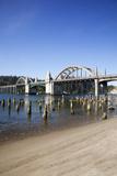Siuslaw River Bridge  Built in 1936  on Highway 101  Florence  Oregon  USA