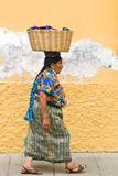 Mayan Woman in Traditional Huipiles (Blouse) and Corte (Skirt)  Antigua  Guatemala
