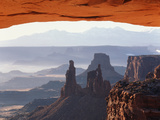 View of Mesa Arch at Sunrise  Canyonlands National Park  Utah  USA