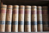 Old Law Books in Library Virginia City  Nevada  USA