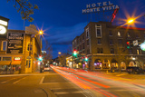 San Francisco Street at Dusk in Historic Downtown Flagstaff  Arizona  USA