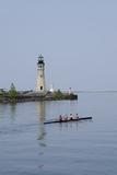 Buffalo Lighthouse  1833  Us Coast Guard Base  Lake Erie  Buffalo  New York  USA