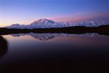 Lake with Mt McKinley  Denali National Park and Preserve  Alaska  USA