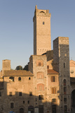 Early Morning Light on the Towers of the Town  San Gimignano  Tuscany  Italy