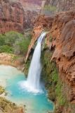 Havasu Waterfall on the Havasupai Reservation in Arizona  USA