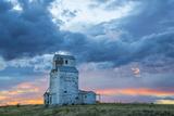 Old Granary in Late Evening Light  Farm  Near Choteau  Montana  USA