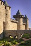 Fortification  Castle Inside La Cite Carcassonne  Languedoc-Roussillon France