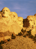 View of Mount Rushmore National Memorial  Keystone  South Dakota  USA