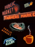 Pike Place Market Signs  Seattle  Washington  USA