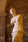 Venus De Milo Statue on Display at Musee Du Louvre  Paris  France