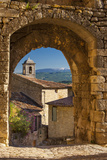 Stone Gate in Lacoste with Mount Ventoux Beyond  Provence  France