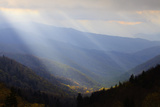 Sunbeams over Mountain Valley in the Smokies  Great Smoky Mountains National Park  Tennessee  USA