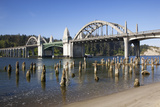 Siuslaw River Bridge  Built in 1936  on Highway 101  Florence  Oregon  USA