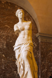 Venus De Milo Statue on Display at Musee Du Louvre  Paris  France
