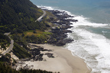 Coastline View from Overlook  Cape Perpetua Scenic Area  Oregon  USA