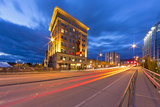 Historic Wilma Theatre Building at Dusk in Downtown Missoula  Montana  USA