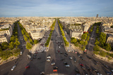 View over Paris from the Top of Arc De Triomphe  Paris  France