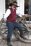 People in Period Dress in Virginia City  Nevada  USA