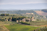 The Countryside Outside San Gimignano  Tuscany  Italy