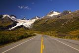 Ice Flows of the Worthington Glacier with Road Leading to Glacier  Alaska  USA