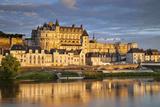 Castle  Chateau d'Amboise Above the River Loire  Amboise  Central France