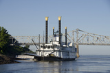 Paddlewheel Boat and Casino  Mississippi River  Port Area  Natchez  Mississippi  USA
