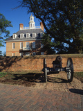Cannon Outside Governor's Palace  Williamsburg  Virginia  USA