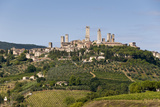Towers from the Surrounding Countryside  San Gimignano  Tuscany  Italy