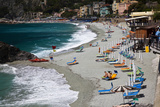 Vacationers Enjoying the Beach  Monterosso  Cinque Terre  Italy