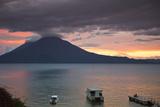 Toliman Volcano and Lago De Atitlan (Lake Atitlan)  San Juan La Laguna  Guatemala