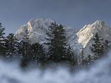 Zugspitze  Lake Eibsee  Werdenfelser Land  Garmisch-Partenkirchen  Bavaria Germany