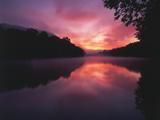 Steaming Kentucky River at Sunrise  Kentucky  USA
