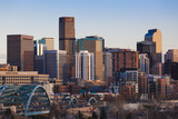 City View from the West  Denver  Colorado  USA