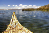 Bolivia  Lake Titicaca  Reed Boat of Uros Floating Reed Islands of Lake Titicaca