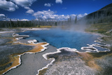 View of Hot Springs at Yellowstone National Park  Wyoming  USA