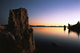 Tufa Rock Formation at Dawn in Mono Lake  Eastern Sierra  California  USA