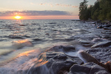 Waves at Sunset  Devils Island  Apostle Islands National Lakeshore  Wisconsin  USA