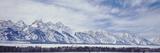 Storm Above Teton Range  Grand Teton National Park in Morning  Wyoming  USA