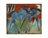 Blue Foal Giclée par Franz Marc