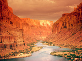 Grand Canyon at Sunset Reproduction d'art