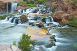 Havasu Waterfall on the Havasupai Reservation in Arizona  USA