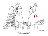 """I died in Buffalo"" - New Yorker Cartoon"