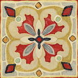 Bohemian Rooster Tile Square III