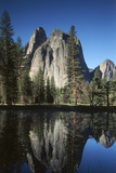 View of Valley's Sheer Rock with Pond  Yosemite National Park  California  USA
