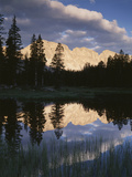 View of Reflecting Mountain in Bear River  High Uintas Wilderness  Utah  USA